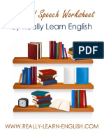 Reported Speech Worksheet by Really Learn English