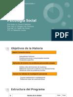 Psicología Social - Presentación Unidad 1