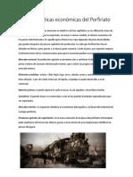 Características Económicas Del Porfiriato