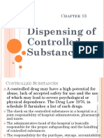 Chapter 13 Dispensing of Controlled Substances