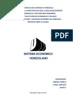 Sistema Económico en Venezuela
