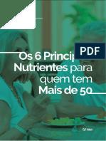 Os 6 principais nutrientes para quem tem mais de 50