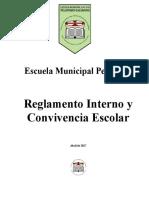 Reglamento de Convivencia Escuela Pelantaro Reformulado 2016