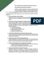 Consideraciones Para La Importación de Alimentos Procesados a Ecuador
