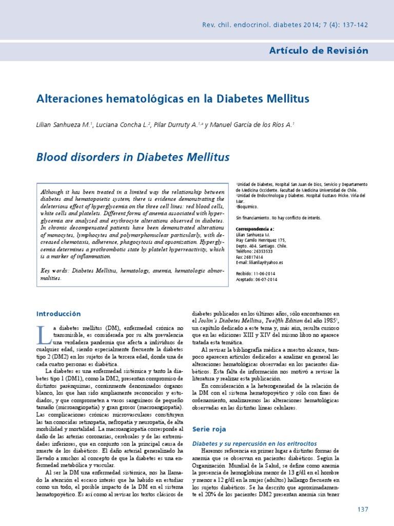 polimorfismo del gen hepcidina en diabetes