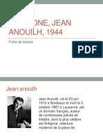 Antigone, Jean Anouilh, 1945