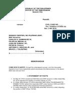 Memorandum - Legal Research 2019