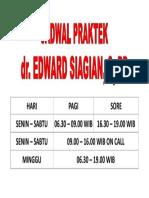 JADWAL PRAKTEK DOKTER EDWARD.doc
