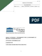 Manual Proceso s Biblioteca