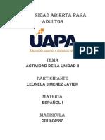 LEONELA JIMENEZ JAVIER TAREA2 ESPAÑOL ( I ).docx