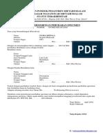 Surat Permohonan Perubahan Specimen Bank