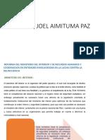Dennis Joel Aimituma Paz Gobiernos Locales