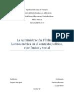 Administracion Pública en Latinoamerica