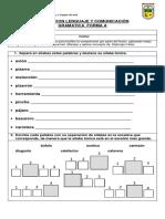 Evaluacion Lenguaje y Comunicación Gramatica Forma A