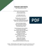 Teks Puisi Lomba Baca Puisi