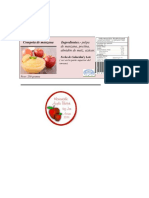 Etiqueta Compota de Manzana
