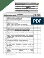 Lista de Cotejo Para Evaluar El Cuaderno de Campo