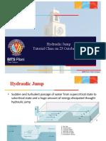 Hydraulic Jump Tutorial Problems
