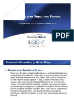 Crystal Reports Sharpen Your Superhero Powers (Michitsch Systems BCIT)