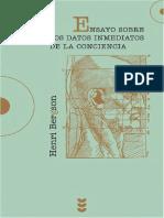 Bergson Henri - Ensayos Sobre Los Datos Inmediatos De La Conciencia.pdf