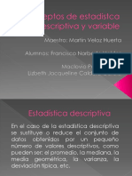 Conceptos de Estadistca Descriptiva y Variable