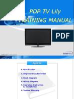 Training Manual Lily Pl42c91hp Pl42q91hp Pl50c91h