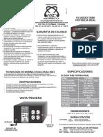 Manual Ev2000tabe v2