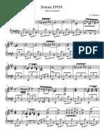 Schubert Sonata D959 Andantino
