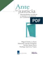 18. Ante la justicia. Necesidades juriìddicas y acceso a la justicia.pdf