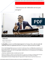 """José Domingo Pérez """"Información de Odebrecht Servirá Para Sancionar a Nuestros"""