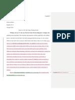 final critical reflection essay