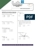 Examen i Bimestre Trigonometria - 4do