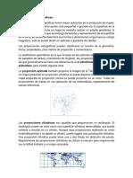 Resumen Proyecciones cartográficas