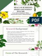 The Impact Of BUMDESMA On Farmer's Hppusehold Welfare