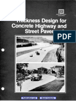 Thickness Design for Concrete Pavement Roads and Streets