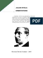 Evola Julius - Orientations