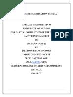 Project on Demonetization