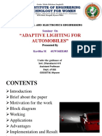 adaptive lighting for automobile