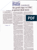 Manila Bulletin, May 9, 2019, Zarate seeks graft raps vs ERC execs in power deal mess.pdf