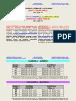 Calendario Exámenes 2019 Alumnado Libre