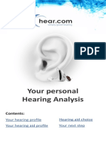 Your Hearing Analysis in m