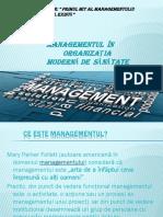 managementul organizașiei moderne de sanatate