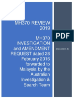 MH370 IN REVIEW 2019-MH370 Investigation & Amendment Request 28 February 2016