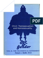 Stoller Ch12 - The Transsexual Experiment - Chapter 12 Transsexualism and Homosexuality