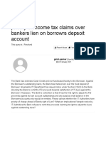 Priority of Income Tax Claims Over Bankers Lien on Borrowrs Dep