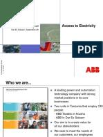 Access to Electricity, Tanzania