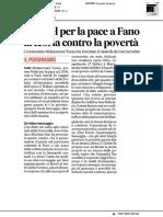 Il Nobel per lapace a fano, la teoria contro la povertà - Il Corriere Adriatico dell'8 maggio 2019