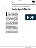 Quei 27 dollari per la libertà - Il Corriere Adriatico dell'8 maggio 2019