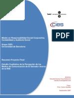 Estudio Cualitativo de la Percepción de los Medios de Comunicación de El Salvador Acerca de la RSE