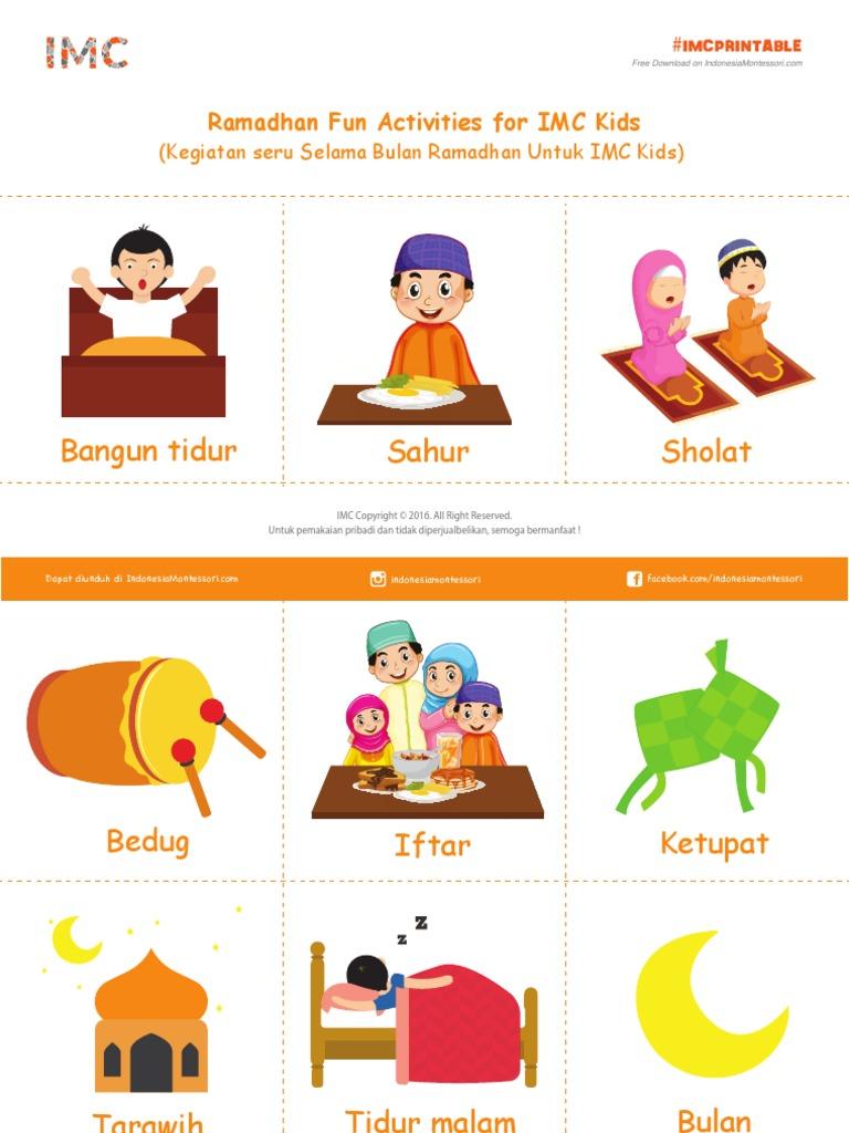 IMCPrintable Kegiatan Ramadhan Eid Mubarak Idul Fitri